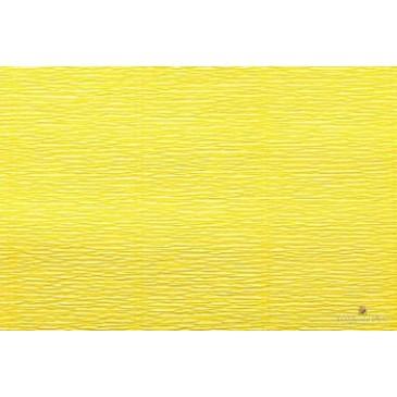 гофрированная бумага лимонная желтая
