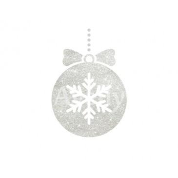 Блестки белые новогодние
