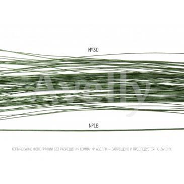 Флористическая проволока зеленая №30
