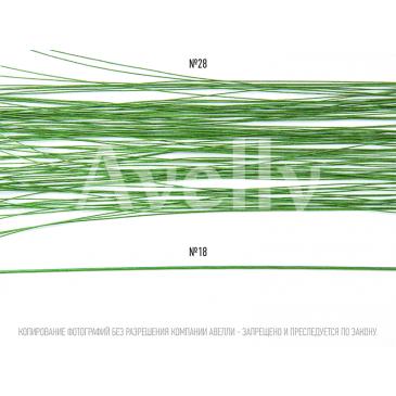 Проволока для цветов в бумажной обмотке зеленая №28