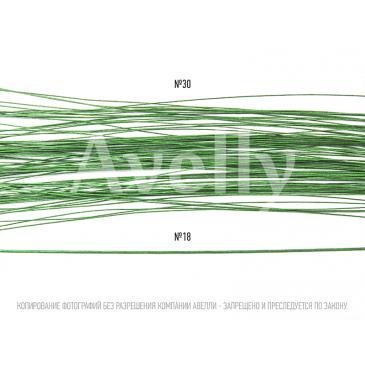Флористическая проволока светло-зеленая №30