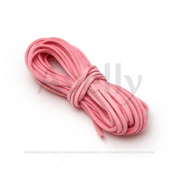 Шнур замшевый розовый