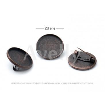 основа для броши со скрытой булавкой медь