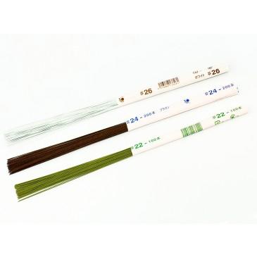 Японская зеленая проволока для цветов №20, 36 см