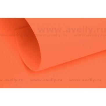 фоамиран корейский для рукоделия и цветов морковный 60*80 см