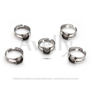 основа для кольца состаренное серебро