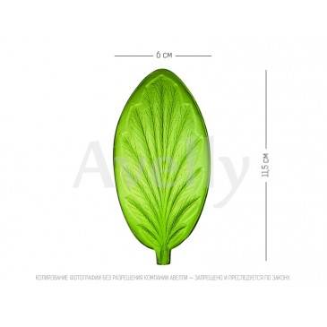 текстурный молд лист анютины глазки