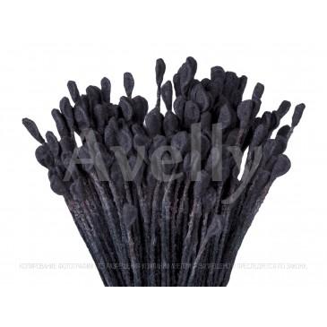 Японские тычинки для цветов оптом, черные для розы