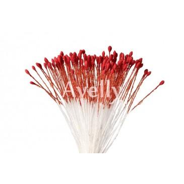 Тычинки для цветов венецианский красный мелкие