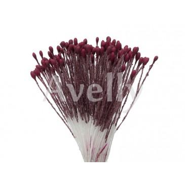 """Тычинки для цветов мелкие бордовые """"бургундское вино"""""""
