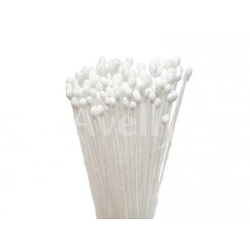 Японские тычинки для цветов белые круглые мелкие
