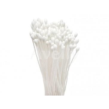 Японские тычинки белые круглые мелкие 1 мм