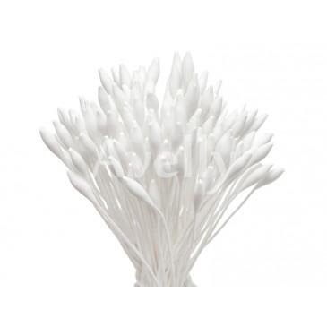 Японские тычинки белые овальные