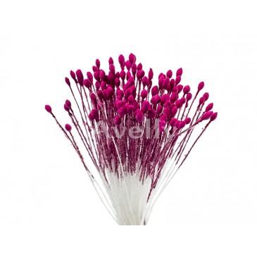 Тычинки мелкие цвет фуксия ручной работы