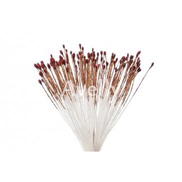 Тычинки для цветов коричнево-бордовые мелкие