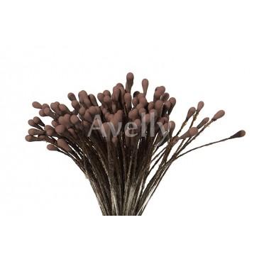 Тычинки для цветов мокко коричневые средние