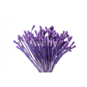 """Тычинки фиолетовые """"Клематис"""", крупные"""