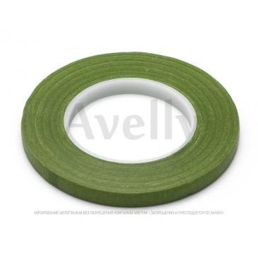 флористическая лента зеленая узкая