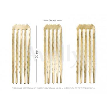 купить металлический гребень для тонких волос узкий, золото