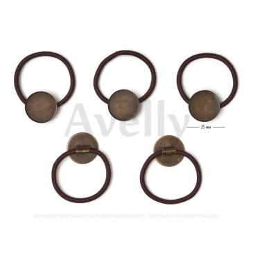 Резинка для волос с бронзовой основой для крепления