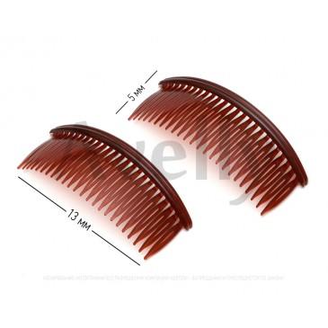 Пластиковый коричневый гребень для волос