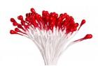 Тычинки для цветов красные перламутровые