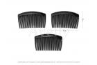 Пластиковый черный гребень для волос