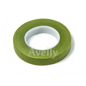 Флористическая тейп-лента зеленого цвета