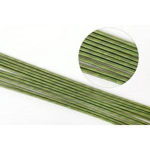 Проволока для цветов в бумажной обмотке зеленая №16