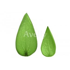 Текстурные молды листья клематиса, 2 шт