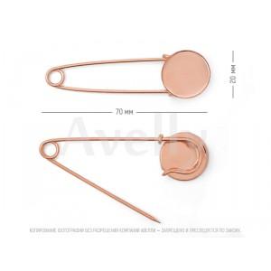 Английская декоративная булавка для броши розовое золото купить