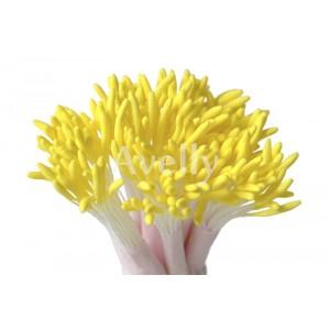 Тычинки для цветов длинные желтые оптом