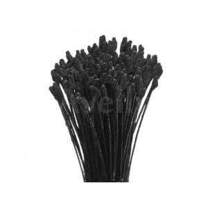 Японские тычинки черные для розы, мелкие, крученые