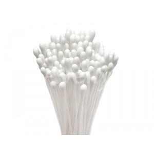 Японские тычинки белые круглые, средние 3 мм, 288 шт