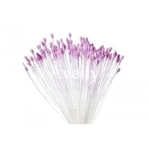 Тычинки для цветов сиреневые мелкие