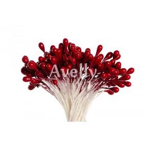 Тычинки для цветов клюквенные