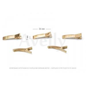 Основа-зажим для волос 36 мм, цвет золото