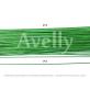 Флористическая проволока ярко-зеленая №18